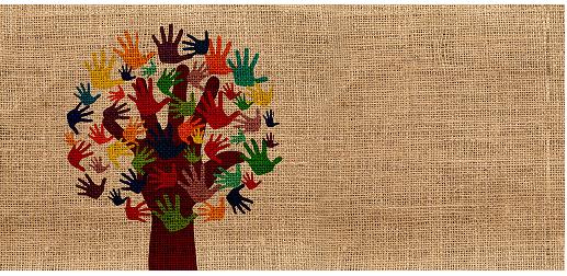 albero con mani